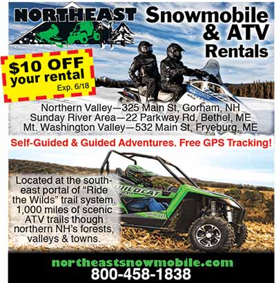 Northeast Snowmobile Rentals